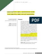 GONZALEZ REY - subjetividad social sujeto y representaciones sociales