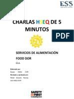 CHARLAS HSEQ DE 5 MINUTOS FOOD Y SUS