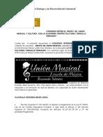 CONVENIO ENTRE EL GRUPO  DE  UNION MUSICAL CON LA ACADEMIA CENTRO CULTURAL