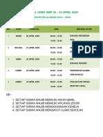 JADWAL USBK  Smp 2020