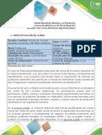 Syllabus del Curso Sistemas Agroforestales