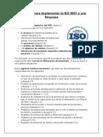 Requisitos para implementar la ISO 9001 a una Empresa gabi