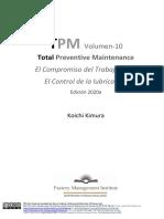 TPM-10 El Compromiso del trabajador y el Control de la lubricación