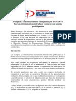 Nota de Prensa de la Dirección General de Contrataciones Públicas sobre compras de emergencias