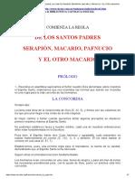 Comienza La Reglade Los Santos Padres Serapión, Macario, Pafnucio y El Otro Macario