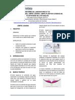 Laboratorio No. 3 Límite líquido, Límite plástico e Indice de plasticidad (1)