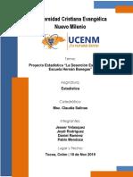 Proyecto Estadistica Desercion Escolar en Esc. Hernan Banegas
