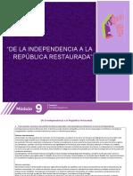 De la independencia ala republica restaurada