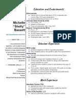 shelly bassett resume