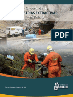 Reporte de Industrias Extractivas de Bolivia 2017