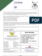 Newsletter 16 July 2010
