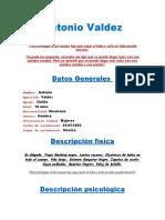 Ficha de personaje Español