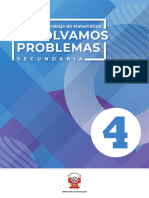 Resolvamos Problemas 4, Secundaria Cuaderno de Trabajo de Matemática 2020