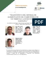 DIAGNÓSTICO DEL SISTEMA DE ALIMENTACIÓN DE COMBUSTIBLE DE UN VEHÍCULO A INYECCIÓN AGASOLINA