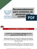 4. Recomendaciones para contactos