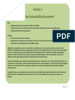 Baseline Sustainability Assessment
