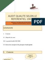 Support cours d'audit qualité animé Mr.ADEN