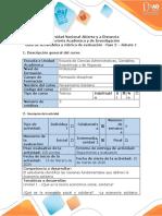Guía de actividades y rubrica de evaluación - Fase 2 - Debate 1