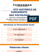 Aula 2 e 3 _ Surgimento das Ciencias sociais