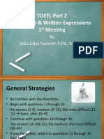 Structure and Written Expression 1st Meeting