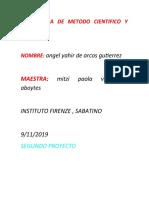 LA  CIENCIA DE METODO CIENTIFICO Y EMPIRICO  MI SEGUNDO PROYECTO.docx
