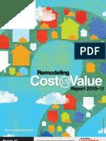 2010-11 Remodeling Cost Vs. Value Report Phoenix Arizona