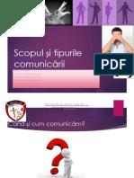 Scopul si tipurile  comunicarii