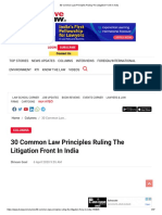 30 Common Law Principles Ruling The Litigation Front In India