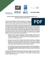 Joint Statement Europen Aviation Industry