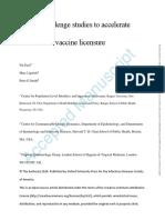 Human Challenge Studies to Accelerate Coronavirus Vaccine Licensure