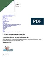 Greater Trochanteric Bursitis Exercises New York