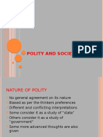 SCOPE,meaning,functions and aims of polity