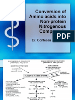 Conversion of Amino acids into Non-protein Nitrogenous Compounds