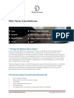 PhD Thesis Writing Services -German