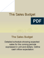5. The Sales Budget