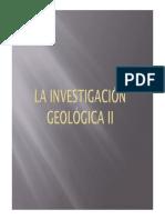 La investigación geologica (II)