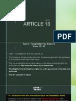 FUNDAMENTAL RIGTHS - UNIT2 ( SECOND PRESENTATION)