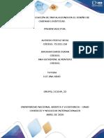 Act 2 Diseño cadena logistica