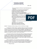 Pentagon Guidance on Face Coverings