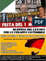 1 maggio en Cosenza
