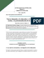 NuevasDemandasalaEducaciónenlaInstituciónEscolar_ProfesionalizaciónDocentes_Revista Iberoamericana de Educación