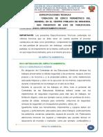 14.4 Especificaciones Técnicas Impacto Ambiental