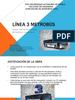 Construcción de la linea 3 del metrobus Puebla