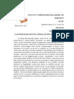 ensayo  de procedimientos administrativos en el area laboral