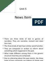 Unit 5 (News Item)