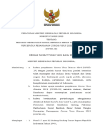 Permenkes No 9 tahun 2020 - Pedoman PSBB Covid-19