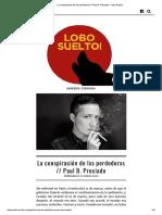La conspiración de lxs perdedorxs _ Paul B. Preciado - Lobo Suelto!