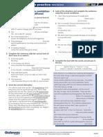 B1 UNIT 7 Extra grammar practice revision