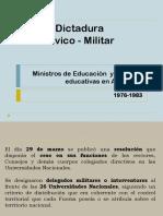 Dictadura y educación