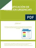 Clasificación de triage en urgencias
